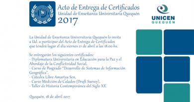 Acto de Entrega de Certificados 2017