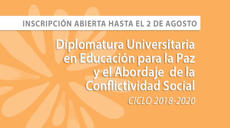 Inscripción adicional a la Diplomatura en Educación para la Paz y el abordaje de la Conflictividad Social