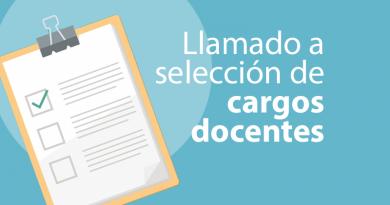LLAMADO A SELECCION DE CARGOS DOCENTES