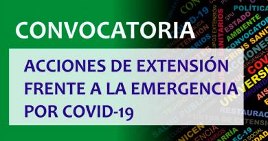 Convocatoria: Acciones de extensión frente a la emergencia por COVID-19
